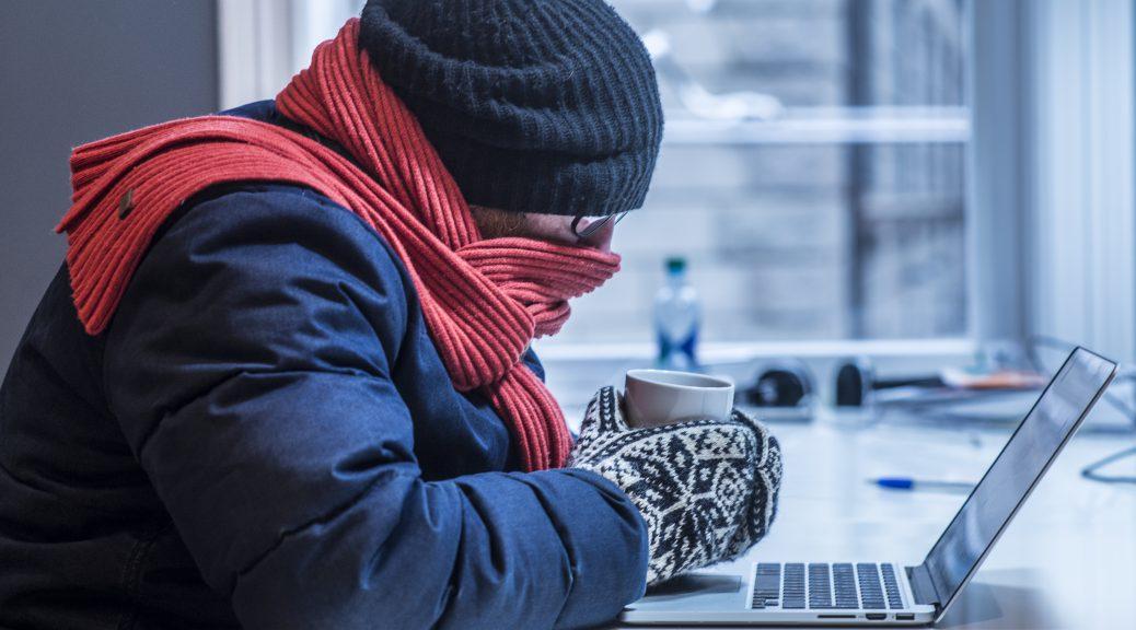 Kaldt kontor, fryser